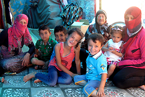 Nasrin et ses belles-sœurs Jwan et Fatima