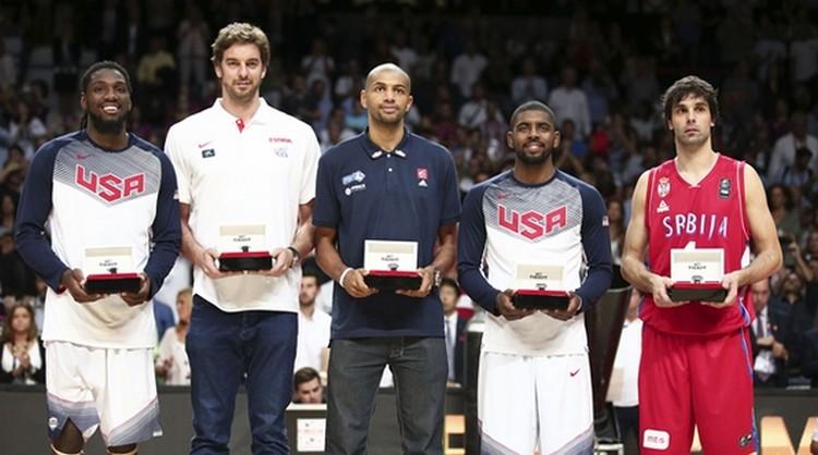 Les cinq majeur de la Coupe du monde FIBA, Espagne 2014 (www.lequipe.fr)