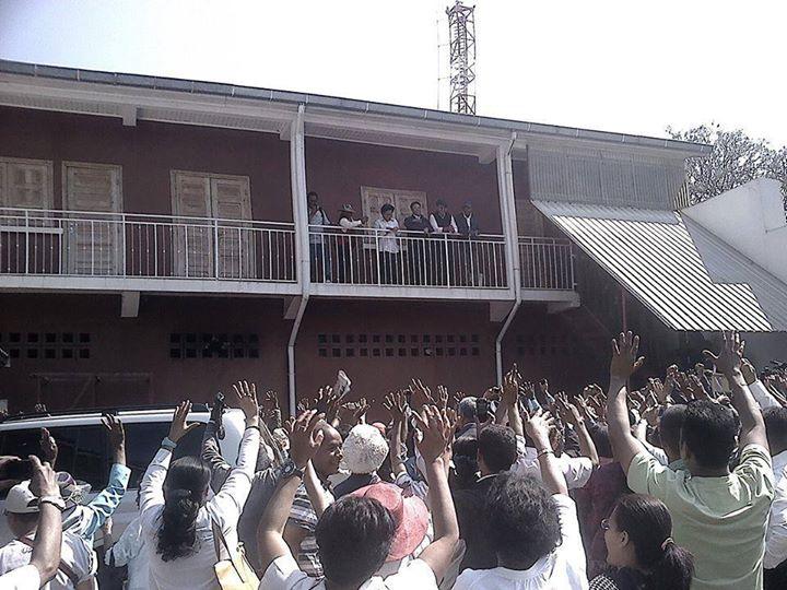 Marc Ravalomanana aujourd'hui, à Faravohitra. Photo : Madagascar Liberté