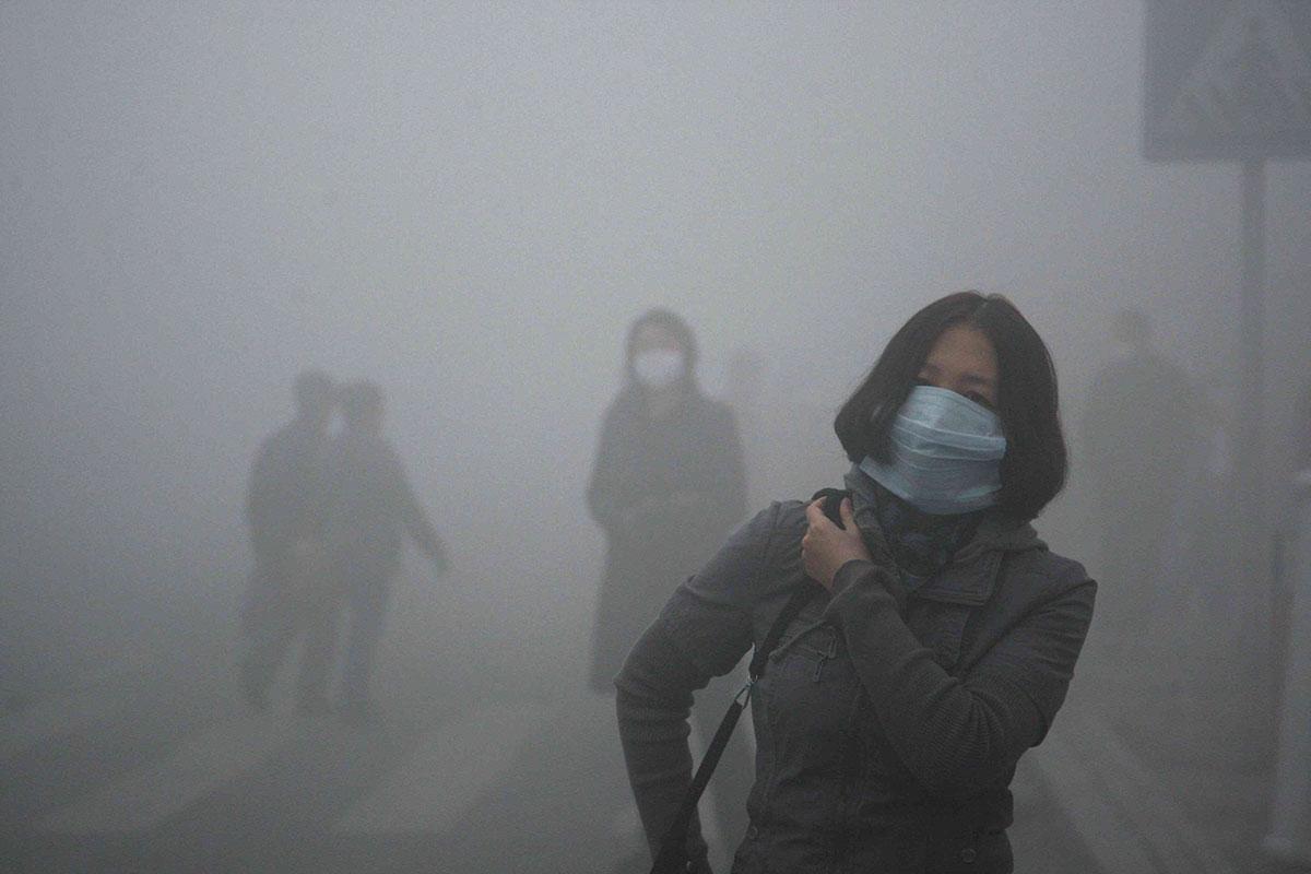 Pollution dans les rues de Pékin